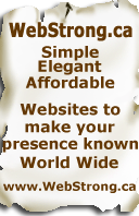 WebStrong.ca simple, elegant, affordable, effective webdesign & hosting